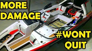 Flooded Copart Super Boat REBUILD PART 2 - More DAMAGE!?!