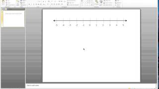 PowerPoint Number Line Video #2:Add numbers to Number Line
