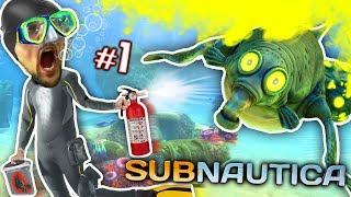 ALIEN OCEAN: Stinky Walrus Shark Ambush! FGTEEV plays Subnautica #1