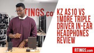 KZ AS10 vs 1More Triple Driver In-Ear headphones – RTINGS.com