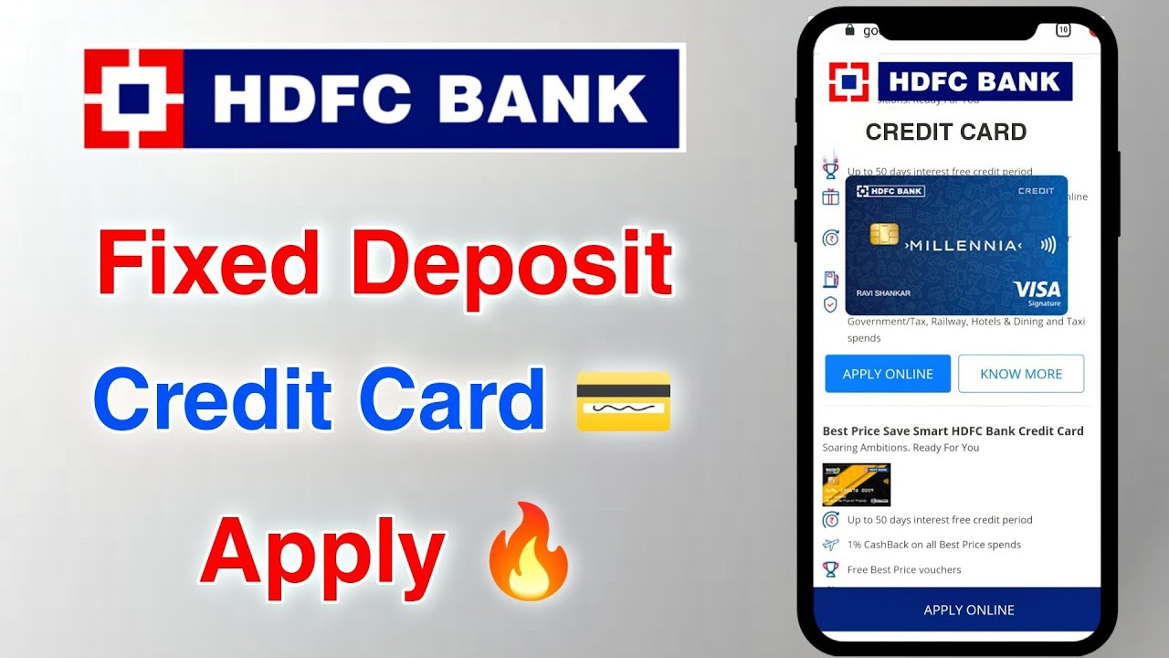 HDFC Bank Fixed Deposit Charge Card Apply thumbnail