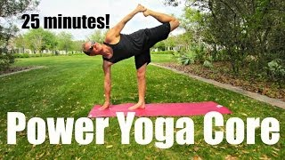 25 min Power Yoga Ab & Core Workout Shred - At Home Exercises #poweryoga by SeanVigueFitness
