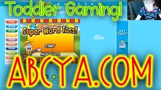 TODDLER EDUCATIONAL GAMING!!!! ABCYA.COM  Flappy Dragon, Word Toss, and MORE! funny kids
