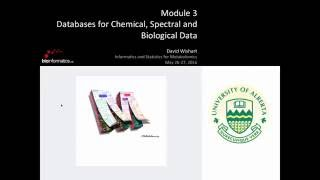 Databases for Chemical, Spectral, and Biological Data