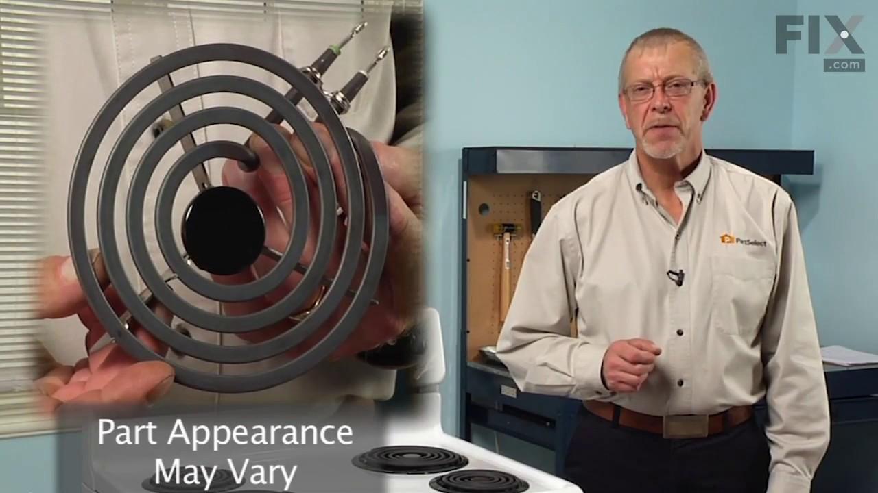 Replacing your Frigidaire Range 6-Inch Coil Burner Element