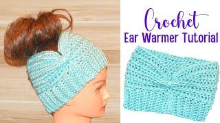 How To Crochet Headband Ear-warmer Tutorial - Crochet Jewel