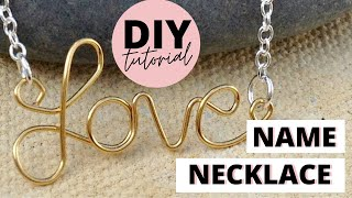 How to Make a Wire Name Necklace | by Michele Baratta