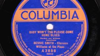 Baby Won't You Please Come Home Blues [10 inch] - Bessie Smith with Clarence Williams at the Piano