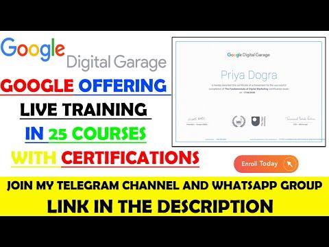 Google Digital Garage 20 + Free Courses with Certificates | Google ...
