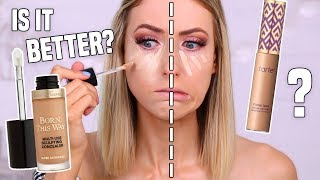 WORTH THE HYPE?! I Tried the NEW Too Faced FULL COVERAGE Concealer vs. Tarte Shape Tape?!