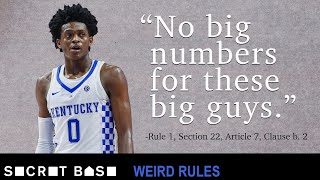 The NCAA limits jersey numbers with a rule that makes sense until you think about it | Weird Rules thumbnail