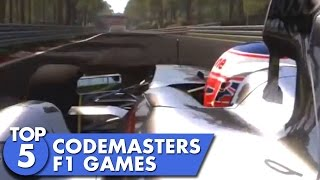 Top 5 Codemasters F1 Games