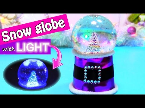 DIY Christmas crafts: SNOW GLOBE with LIGHT – Innova crafts