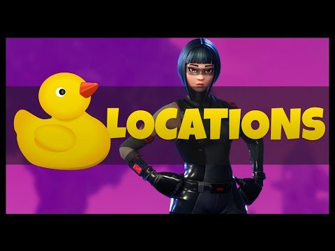 """Fortnite: All 10 Rubber Ducks Locations """"Search Rubber Duckies"""" Weekly Challenges #3"""