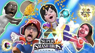 Super Smash Bros ULTIMATE Macaroni!!  FGTEEV Pasta Time (All Characters not UNLOCKED but Granny lol)