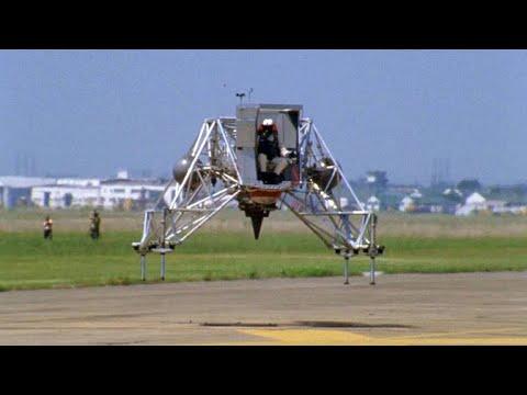 Neil Armstrong's Lunar Module Landing Training