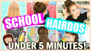 Easy 5 Minute Hairstyles For Back To School Free Online Videos