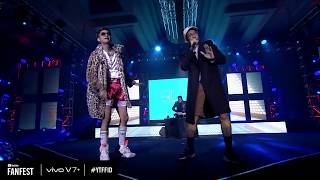 YOUNG LEX - Slow & ANJAY Ft. Gamal,Kemal Palevi & Masgib (Live @ Youtube Fanfest 2017)