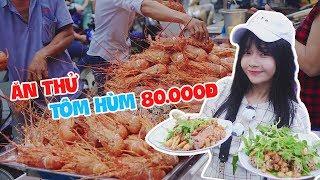 Lần đầu ăn Tôm hùm vỉa hè 70k cùng Hương và Huy   Vietnam Street Food