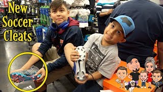 NEW SOCCER CLEATS From BIG 5 | D&D FAMILY VLOGS