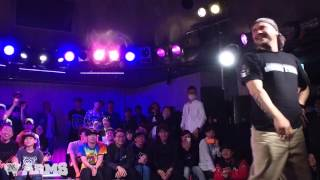 植木 豪 vs LAZ KIRTINO Exhibition Battle ARMS vol.1 2015 | YAK BATTLES