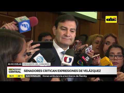 Senadores critican expresiones de Velázquez