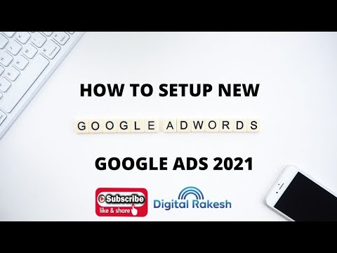 How to setup new google adwords account