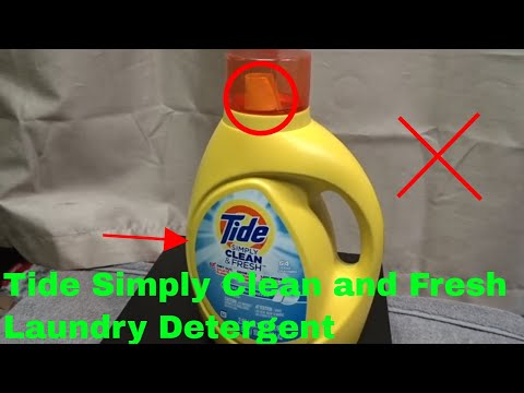 ✅  How To Use Tide Simply Clean and Fresh Laundry Detergent Review