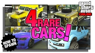 How to Spawn 4 RARE Street Vehicles Including the Chrome Dubsta! GTA Online