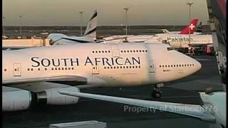 South African Airways 747-444 ZS-SAK takeoff New York Kennedy Intl Airport