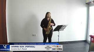 Catarina SILVA plays Sonatine by C. Pascal #adolphesax