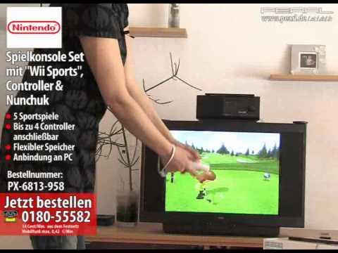 Nintendo Wii Spielkonsole Set mit