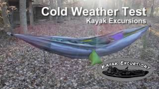 cold weather hammock setup using a mummy bag most popular videos