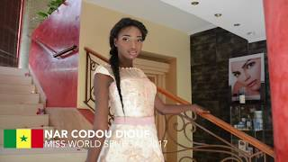 Nar Codou Diouf Miss World Senegal 2017 Introduction Video