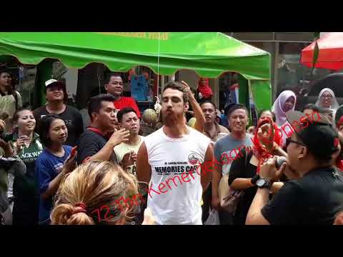 Tourists Flocked In Jaksa Street, Celebrating Indonesian Independence Day