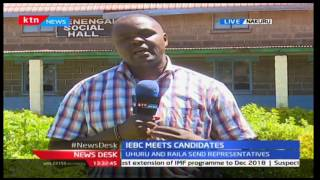 IEBC holds a meeting with political aspirants in Nakuru