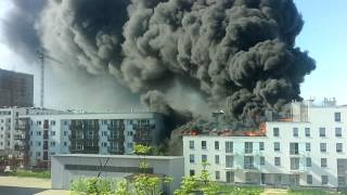 Pożar, Ulica Piękna, Wrocław 20170519 164350
