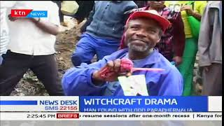 Drama in Kitengela after a suspected witch doctor was cornered in the town
