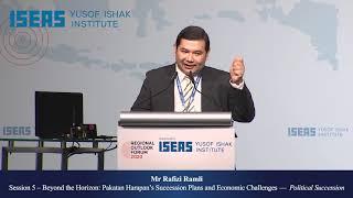 Regional Outlook Forum 2020: Session 5 - Pakatan Harapan's Succession Plans & Economic Challenges