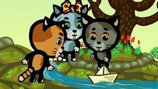 Времена года. Весна - Обучающие мультфильмы (songs for kids) - Три котенка