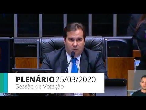 Plenário: Sessão virtual de votações - 25/03/20
