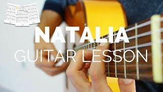 Natalia-Georges Moustaki-Klasik Gitar - Guitar Lesson Nota & Tab