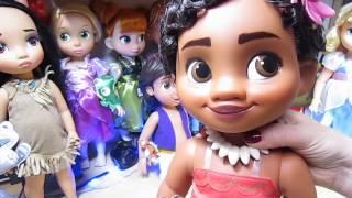MOANA VIANA DISNEY ANIMATORS DOLL REVIEW PUPPE  TOY TODDLER movie Akubra Brompton Girl