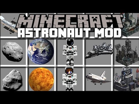 Minecraft ASTRONAUT MOD / FLY TO OUTER SPACE AND VISIT PLANETS!! Minecraft