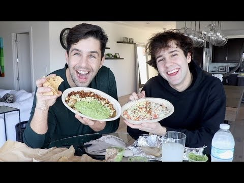 CHIPOTLE MUKBANG FT DAVID DOBRIK!! (видео)