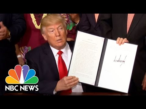 President Trump Signs Executive Order To Review National Monuments, Protected Lands | NBC News