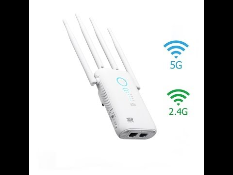 Persevere WiFi Range Extender, Wifi Booster, AC1200, Dual External Band 2.4GHz and 5GHz