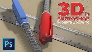 How to use 3D in Photoshop. ULTIMATE in depth tutorial