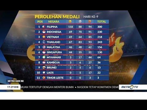 Indonesia Posisi Ke-2 Bersaing dengan Vietnam! Update Medali SEA Games 2019