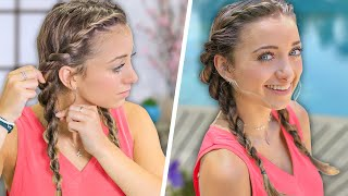 Brooklyn's Easy DIY SUMMER Hairstyle | Rope Twist Combo